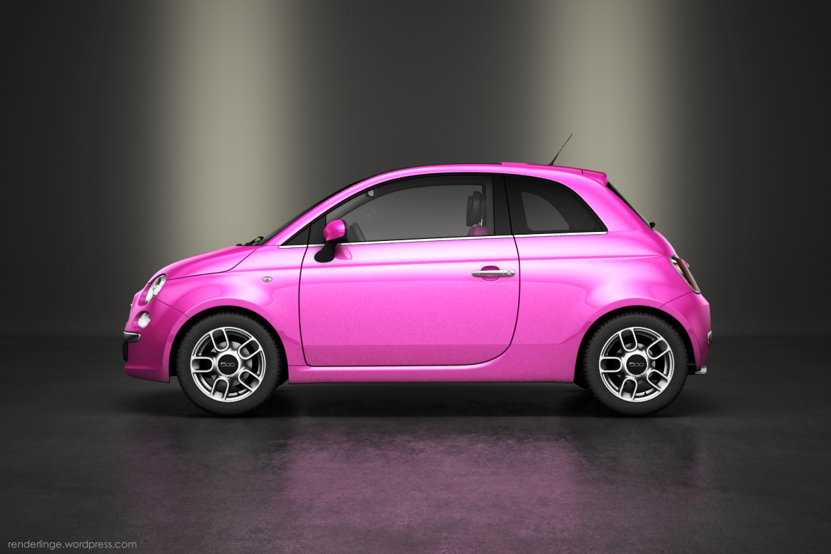 fiat 500 pink edition renderlinge. Black Bedroom Furniture Sets. Home Design Ideas